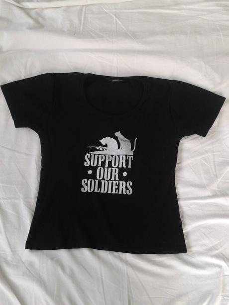 Tričko dámské support our soldiers, m