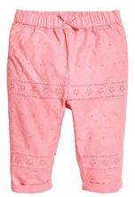 Růžové natahovací kalhoty h&m, vel. 80, h&m,80