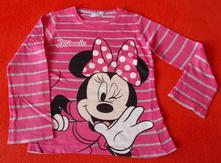 Dívčí triko dlouhý rukáv minnie, disney,122