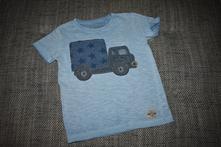 Modré melírkové triko s autem next, kol 2016, 104, next,104