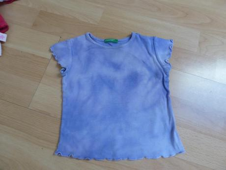Batikované tričko, benetton,80