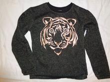 Exkluzivní černozlatá mikina se zlatým tygrem, c&a,134