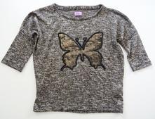 Zlatavý svetřík s motýlem, f&f,116