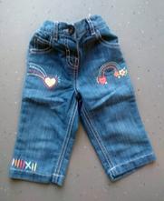 Džínové kalhoty s výšivkou, f&f,74