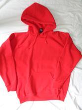 Krásná teplá červená mikina urban, xl