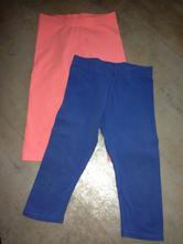 2ks 3/4 legíny next modrá oranžová 2-3roky 98cm, next,98