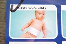 Dětský kýlní pupeční pás,