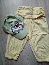 Kalhoty+kšiltovka,