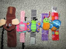 Hračky pro miminka -náramky na ručky-3x zn.lamaze,
