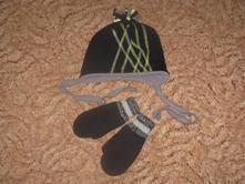 Čepička + rukavice, h&m,98