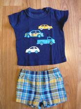 Autíčkový komplet kraťásky a tričko, carter's,62