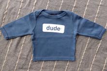 Tričko s nápisem dude, 62