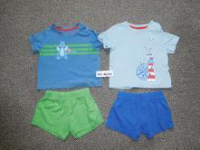 Letni pyžama/ pyžamo  kratasy +triko, lupilu,86