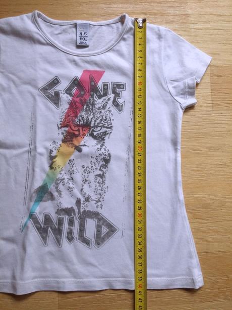 Tričko s kr. bílé wild, zara,110