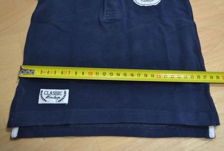 Tričko s límečkem modré, lindex,74