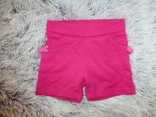Růžové šortky kraťásky 6-12m, c&a,74