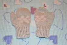 Pletené rukavičky, palčáky vel. cca 74, 74