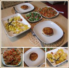 Švédské rybí karbanátky, opečené brambory, čerstvá salsa - menu podle Jamieho Olivera