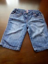 Tenčí džínové šortky, kraťasy, 8-9 let, f&f,134