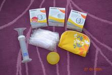 Mix potřeb při péči o prsa při kojení zn. medela,