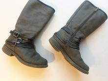 Dětské kozačky a zimní obuv   Tmavě šedá - Dětský bazar  120f635e3b
