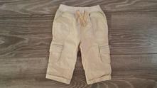 Plátěné kalhoty podšité bavlnou, f&f,68