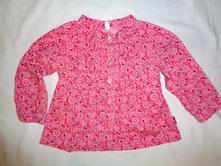 Luxusní sytě růžová květovaná košile - i slavnost , girl2girl,86