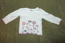Krásné tričko s květinkami, vel. 92, jako nové, dopodopo,92