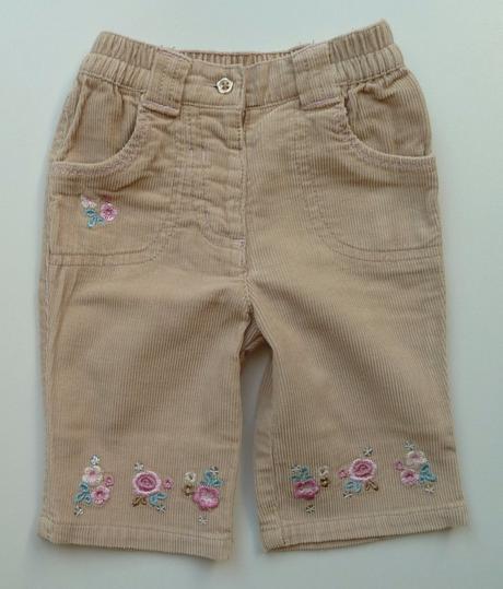 Manšestrové kalhoty s výšivkou vel.62 zn.george, george,62
