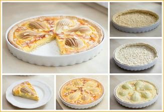 Hruškový koláč s mascarpone a mandlemi