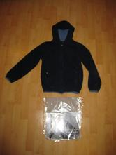 Teplá flísová mikina/bunda s kapucí na zimu, tcm,134