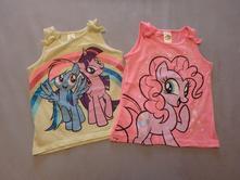 2x tričko bez rukávů my little pony, vel. 104, 104