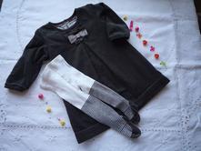 Manšestrové šaty s punčocháčky, marks & spencer,80