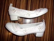 Luxusní svatební-družičkové střevíčky s krajkou, graceland,32