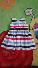 Proužkové šaty se spodničkou, pepco,92