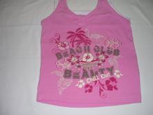 Růžové top tričko pro holčičku, kik,116