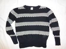 Nádherný nekousavý svetr - alá stříbrná krajka, tu,98