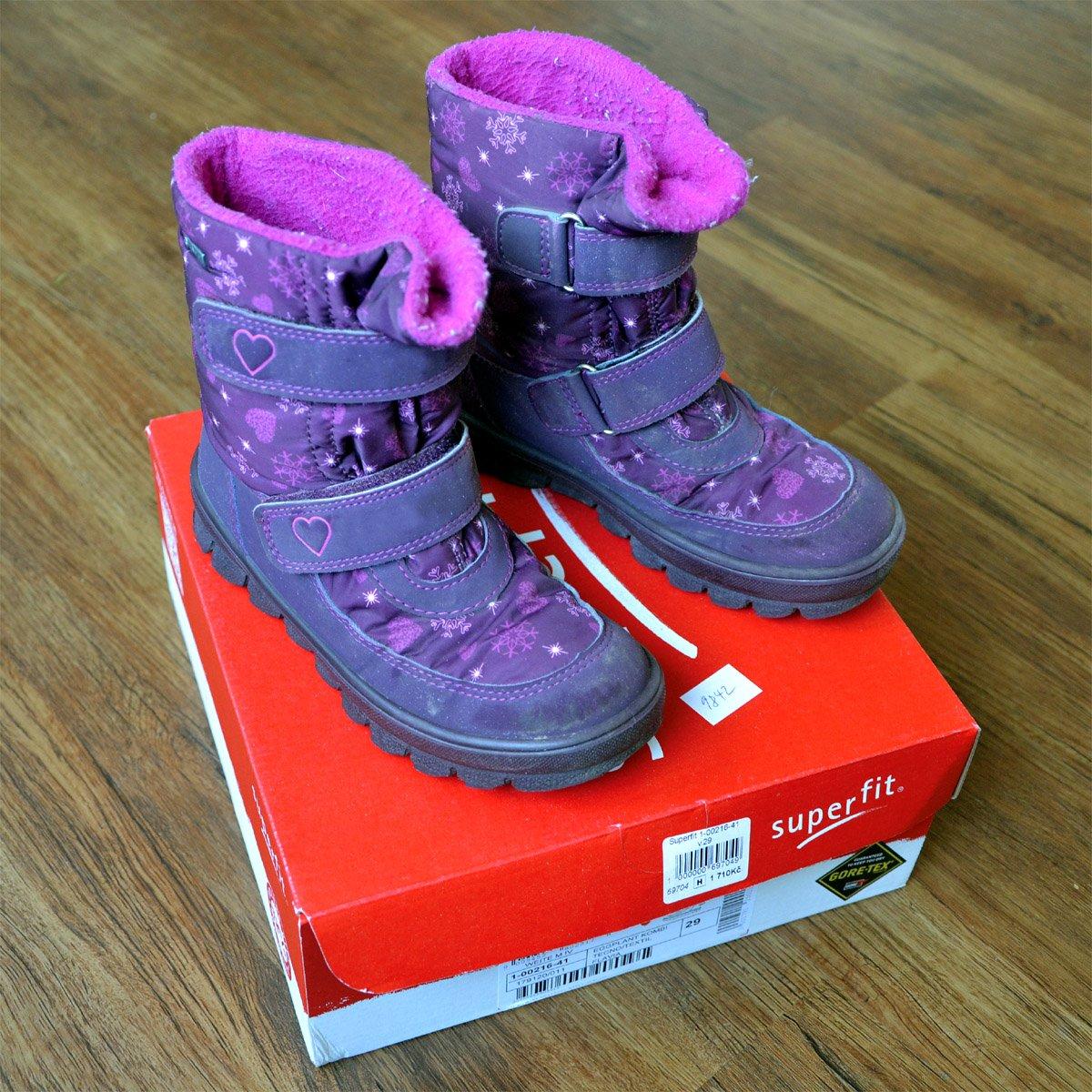 78a2a607aa6 Zimní boty s gore-tex fialové vel. 29