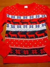 Nádherný vánoční svetr vel x-l, xl