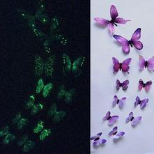 Nálepka motýle fialové svítící - skladem,nal-100,