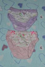 2x spodní dívčí kalhotky, bavlněné, 104