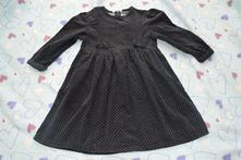 Slabé manžestrové šaty, modré s puntíky, tik & tak,110