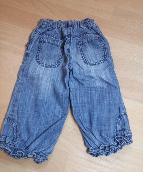 Kalhoty slabší denim, next,110
