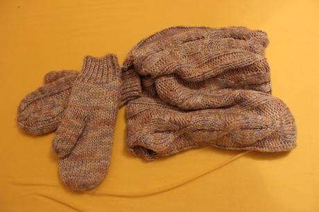 Pletený tunel + rukavice, f&f,m