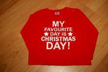 Vánoční tričko, triko - červené, nápis, 18-24 m, f&f,86