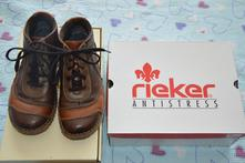 Kožené přechodové boty rieker vel.38, rieker,38