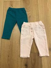 Kalhoty - 2 ks, nutmeg,74