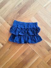 Modrá sukně s kanýry s flitry vel. 110, dopodopo,110