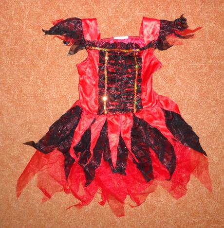 Kostým šaty čertice ďáblice, vel. 6-12 měsíců.,