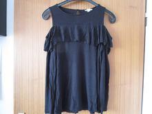 Zajímavé lehoučké sexy černé bavl. triko, amisu,l